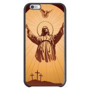 Capa Intelimix Couro Cinza Apple iPhone 6  Religião - RE18