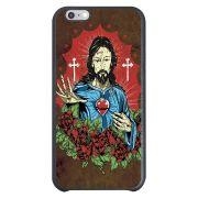 Capa Intelimix Couro Cinza Apple iPhone 6  Religião - RE21