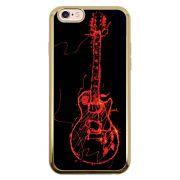 Capa Intelimix Intelislim Dourado Apple iPhone 6 6s Música - MU11