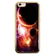 Capa Intelimix Intelislim Dourado Apple iPhone 6 6s Planetas - AT29