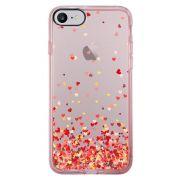 Capa Intelimix Intelislim Rosa Apple iPhone 7 Corações - TP168