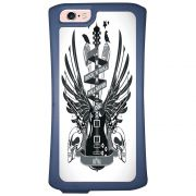 Capa Intelimix Velozz Azul Apple iPhone 6 6S Música - MU29