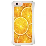 Capa Intelimix Velozz Branca Apple iPhone 6 6S Laranja - TX14