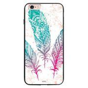 Capa My Capa Preta Apple iPhone 6 6s Penas - AT08