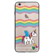Capa My Capa Preta Apple iPhone 6 6s Unicórnio - TP181