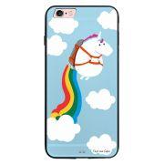Capa My Capa Preta Apple iPhone 6 6s Unicórnio - TP184