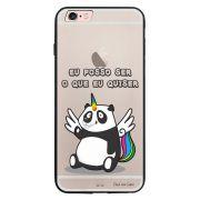 Capa My Capa Preta Apple iPhone 6 6s Unicórnio - TP185