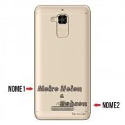 Capa para Celular Transparente com Nome para Asus Zenfone 3 Max 5.2 ZC520TL - NM02