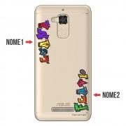 Capa para Celular Transparente com Nome para Asus Zenfone 3 Max 5.2 ZC520TL - NM05