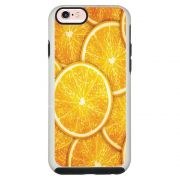 Capa Personalizada Impacto Duo Branca Apple iPhone 6 6s Laranja - TX14