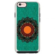 Capa Personalizada Impacto Duo Branca Apple iPhone 6 6s Mandala - AT24