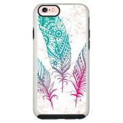 Capa Personalizada Impacto Duo Branca Apple iPhone 6 6s Penas - AT08
