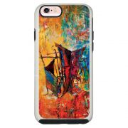 Capa Personalizada Impacto Duo Branca Apple iPhone 6 6s Pintura - AT36