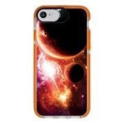 Capa Personalizada Intelimix Intelishock Laranja Apple iPhone 7 - Planetas - AT29