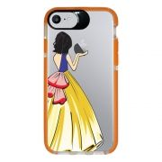 Capa Personalizada Intelimix Intelishock Laranja Apple iPhone 7 - Princesa Branca de Neve - TP203