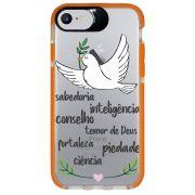 Capa Personalizada Intelimix Intelishock Laranja Apple iPhone 7 - Religião - TP346