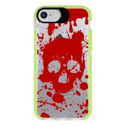 Capa Personalizada Intelimix Intelishock Verde Apple iPhone 7 - Caveira - TP243
