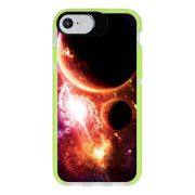 Capa Personalizada Intelimix Intelishock Verde Apple iPhone 7 - Planetas - AT29