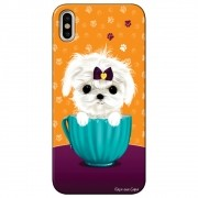 Capa Personalizada para Apple Iphone X - Cachorro no Pote - DE03