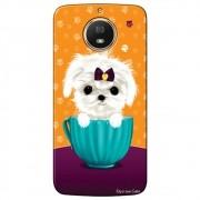 Capa Personalizada para Motorola Moto G5S Plus - Cachorro no Pote - DE03