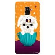 Capa Personalizada para Samsung Galaxy A8 2018 - Cachorro no Pote - DE03