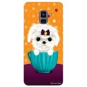 Capa Personalizada para Samsung Galaxy A8 2018 Plus - Cachorro no Pote - DE03