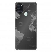 Capa Personalizada Samsung Galaxy A21S A207 - Mapa Mundi - MC01