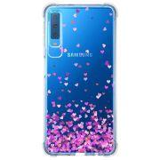 Capa Personalizada Samsung Galaxy A7 2018 Corações - TP167