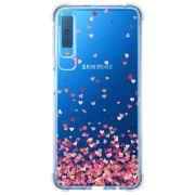 Capa Personalizada Samsung Galaxy A7 2018 Corações - TP48