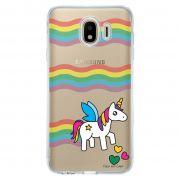 Capa Personalizada Samsung Galaxy J4 J400M Unicórnio - TP181