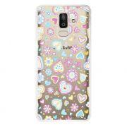Capa Personalizada Samsung Galaxy J8 J800 Corações - TP143