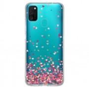 Capa Personalizada Samsung Galaxy M21 M215 - Corações - TP48