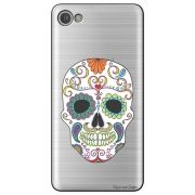 Capa Transparente Personalizada para Alcatel A5 Led - Caveira Mexicana - TP240