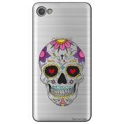 Capa Transparente Personalizada para Alcatel A5 Led - Caveira Mexicana - TP242
