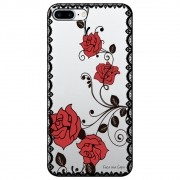 Capa Personalizada para Apple iPhone 8 Plus  - Renda com Rosas - TP291
