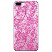 Capa Personalizada para Apple iPhone 8 Plus  - Renda Pink - TP282
