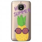 Capa Transparente Personalizada para Motorola G5S Plus  - Hello Summer - TP322
