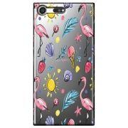Capa Personalizada para Sony Xperia XZ Premium - Flamingos - TP318