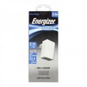 Carregador de Tomada Original Energizer 2 Saídas Usb - Branco