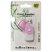 Leitor e Gravador USB de Cartão de Memória Micro SD 2 em 1