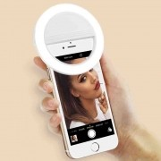 Luz Selfie Ring Light Clip - Preto