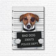 Quadro Canvas Decorativo - Bad Dog - FQ12