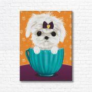 Quadro Canvas Decorativo - Cachorro no Pote - FQ11