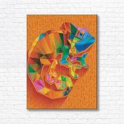 Quadro Canvas Decorativo - Camaleão - FQ13