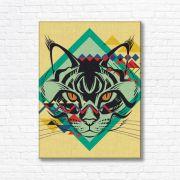 Quadro Canvas Decorativo - Gato - FQ03