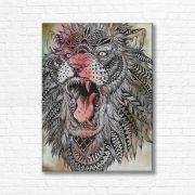 Quadro Canvas Decorativo - Leão - FQ09