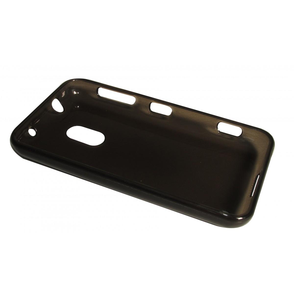 Capa TPU Grafite Nokia Lumia 620 N620 + Pelicula Flexível