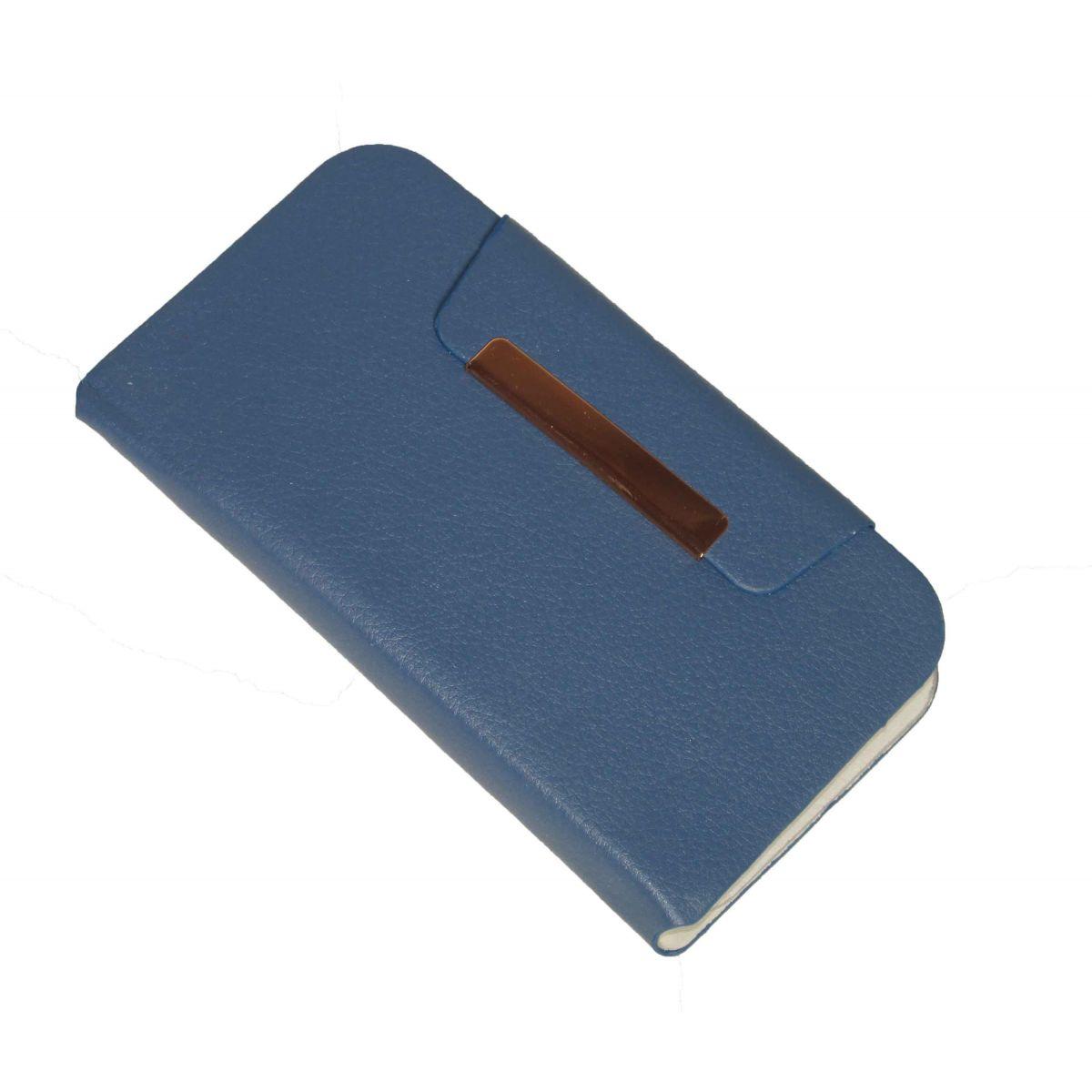 Capa Carteira Universal para Celular de Ate 3 Polegadas Azul
