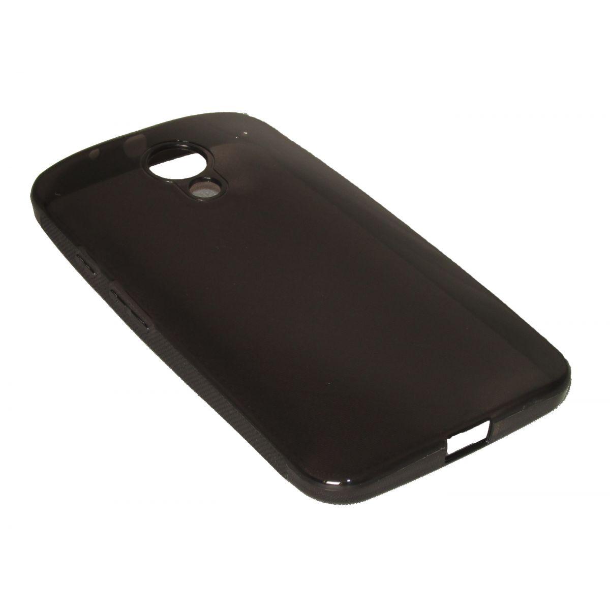 Capa de Tpu Motorola Novo Moto G2 Segunda Geração Xt1069 Xt1068 + Pelicula Grafite