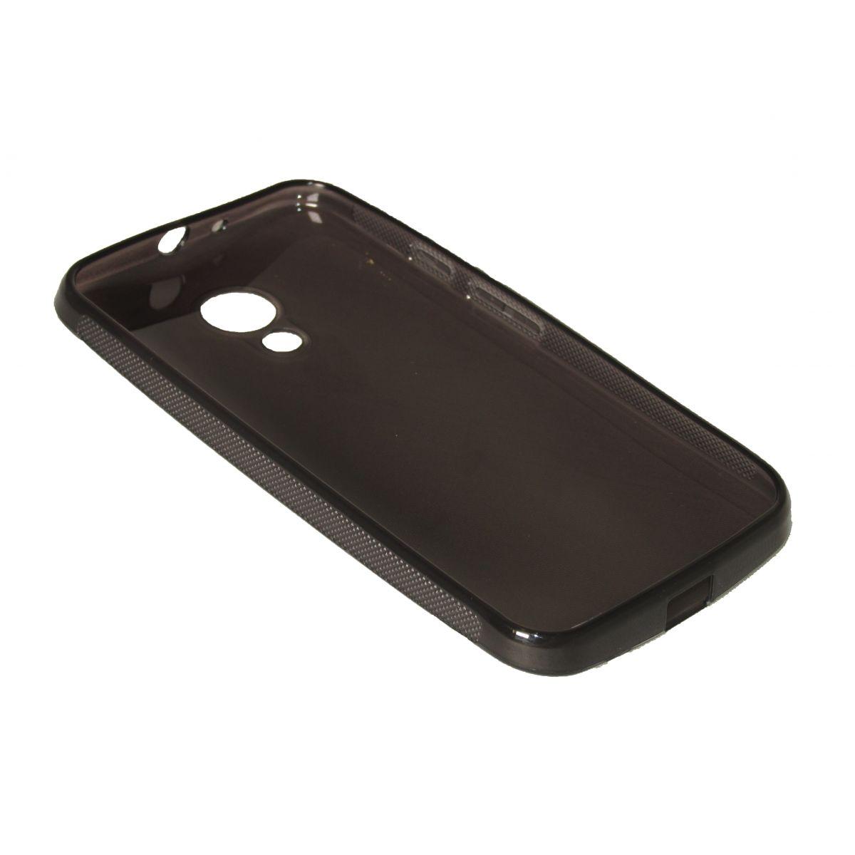 Capa TPU Grafite Motorola Moto G2 Xt1069 + Película Flexível
